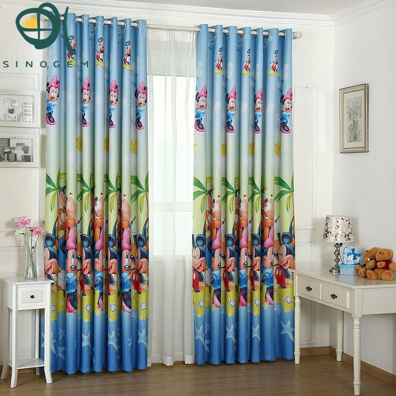 Sinogem New Style Full Shading Printing Curtains Lovely Mickey Rhaliexpress: Mickey Mouse Bedroom Curtains At Home Improvement Advice