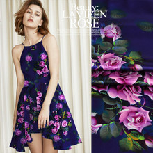 Jenny s Story and silk fabrics silk cheongsam dress dress fabric printing  Stretch Satin Rose Johnson. 3e184b044a8e