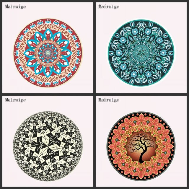Diy Circular Carpet Design Custom Game High Definition Computer Mouse Pad Non Slip Rubber Decorate Your Desk As A Gift In Mouse Pads From Computer
