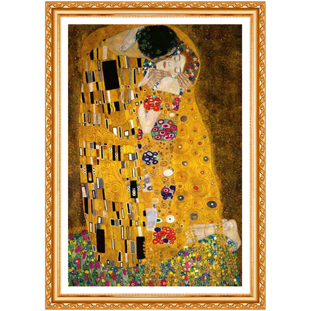 Full Square Diamond 5D DIY Diamond Painting Gustav Klimt The Kiss Embroidery Cross Stitch Rhinestone Painting