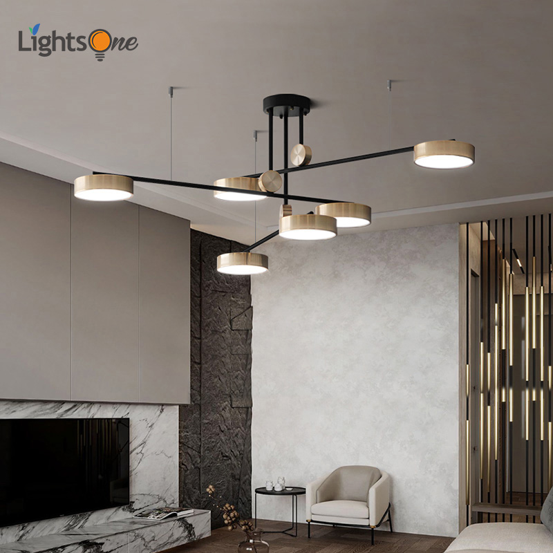Golden Bright Three Color Pendant Lamp