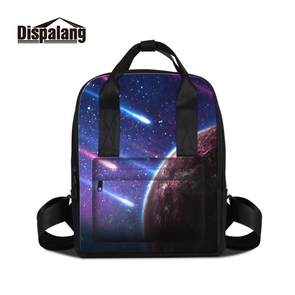 Dispalang Galaxy Backpack For Women Fashion School Backpacks for Teenager Girls Travel Laptop Shoulder Bag Ladies Bagpack dispalang creative stars print kids schoolbag felt laptop backpack for men women school bag for children galaxy student rucksack