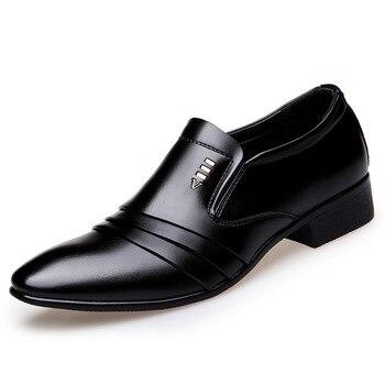 Новая коммерческая обувь; Мужская Спортивная обувь; Мужские модельные туфли для банкета; Английская обувь с острым носком; Дышащая обувь дл