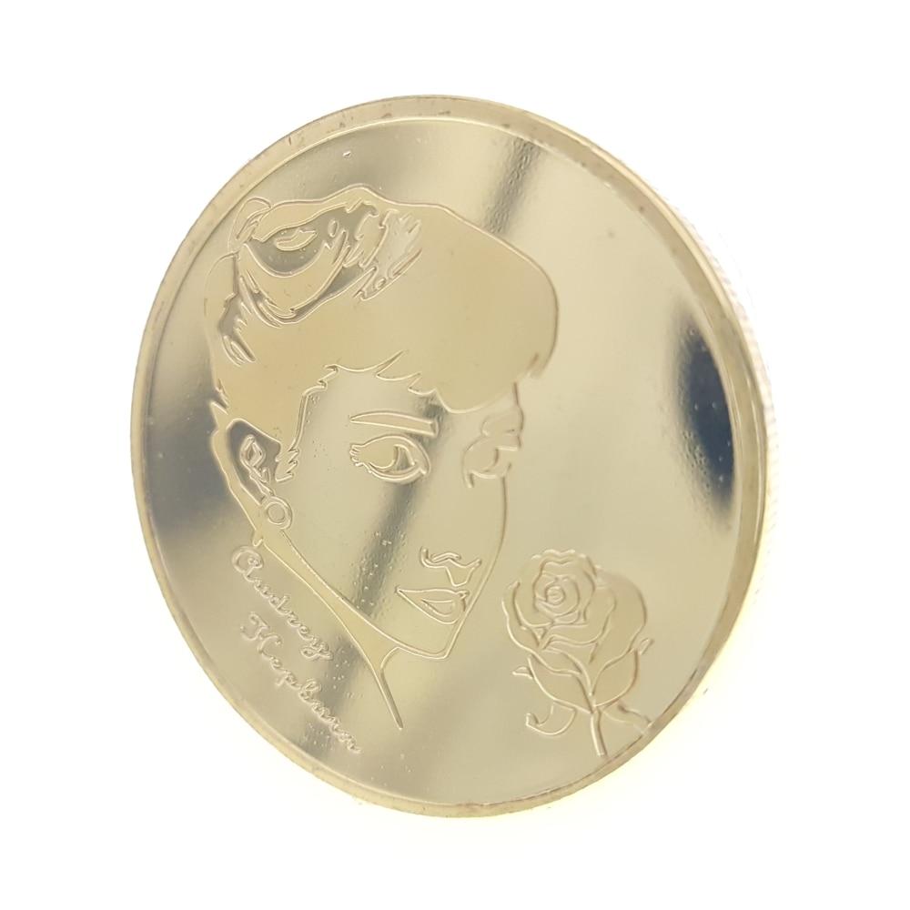 Vacances Princess Audrey Hepburn Coins Crown Italy Star Coin Collection Medal Souvenir Badge Coins Anniversary