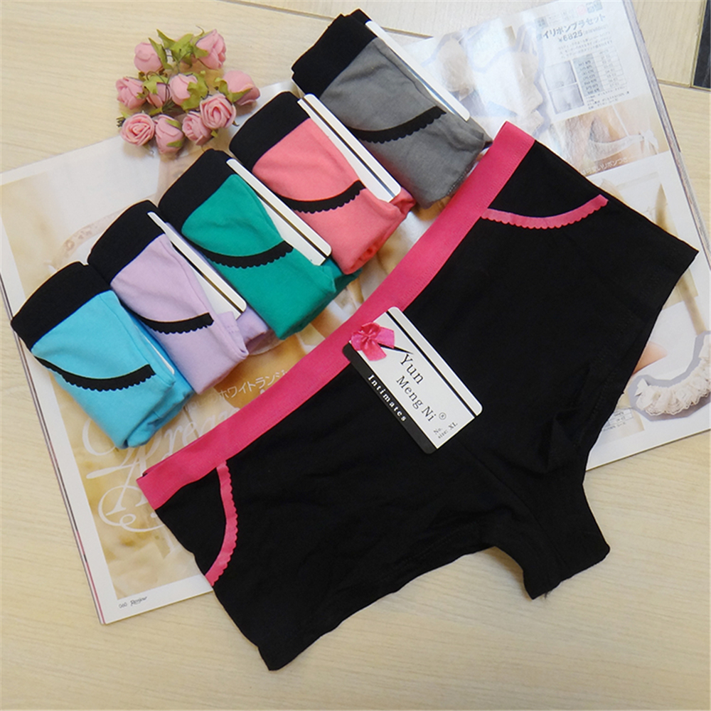Sexy Women Ladies Casual Comfortable Seamless Boxer Shorts culotte femme Safety   Panties   Sexy Lingerie Underwear Boyshort (6 pcs)