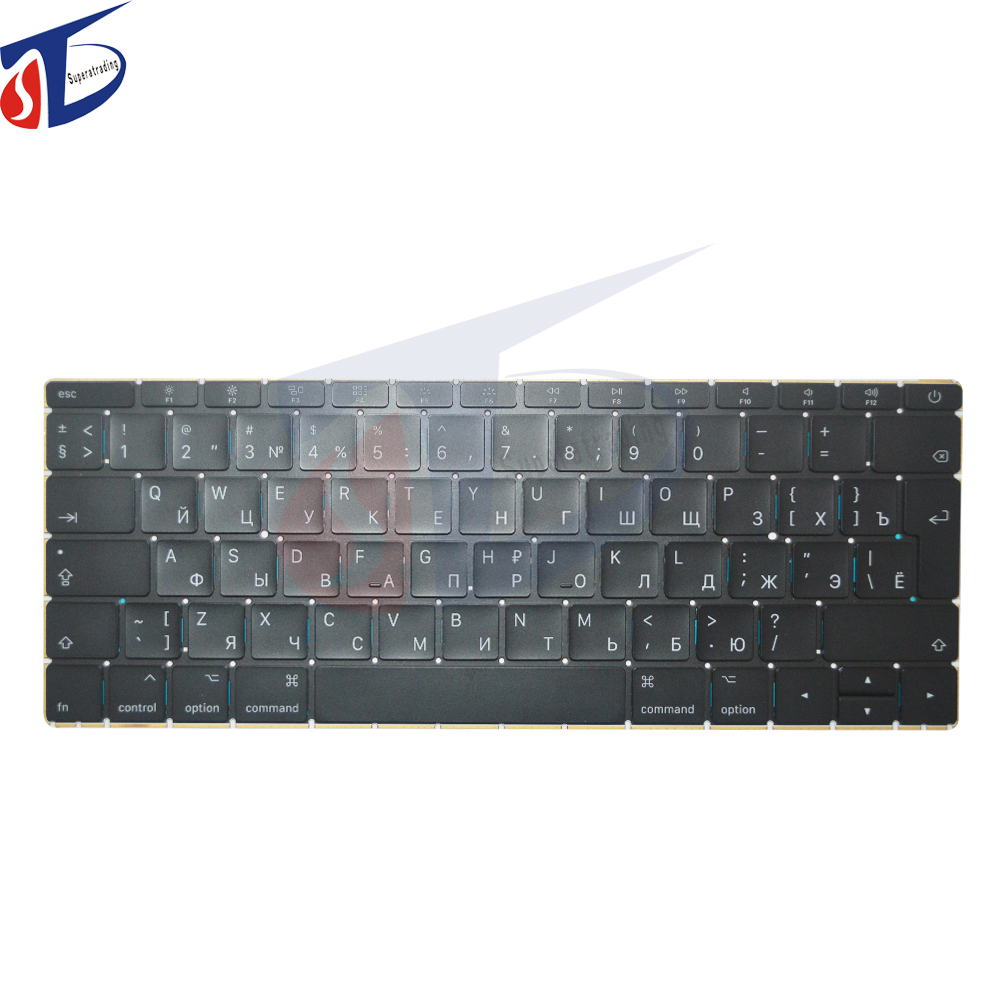 original A1534 12'' retina RU keyboard for macbook RU Russian Russia keyboard clavier without backlight 2015 2016year цена