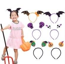Halloween Bats Pumpkin Headband for Girls Women Bowknot Hair Bands Headdress Gifts YH1511