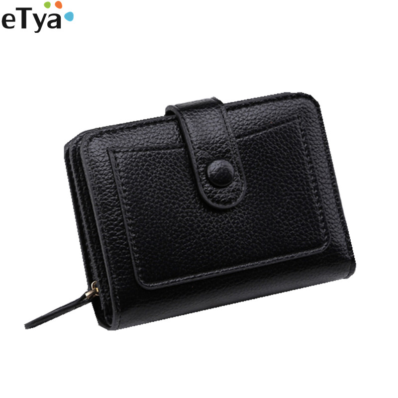 eTya Fashion Women Short Wallet Purses h PU Leather Small Clutch Female Wallets Coin Money Credit Card Holder Bag Case wallet women small cow leather mini short wallets id card holder wallet coin purses real leather wallets for lady clutch female