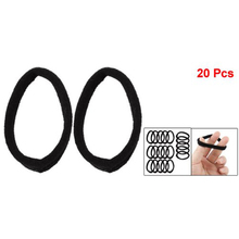 NEWNEW 20 Pcs Practical Black Elastic Hair Bands Ponytail Holders for Ladies Women