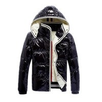 Winter Thicker 90% White Duck Down Jackets Red Navy Mens & Boys Fashion Warm Outwear with Hooded Black Coffe Zipper Clothes Sale
