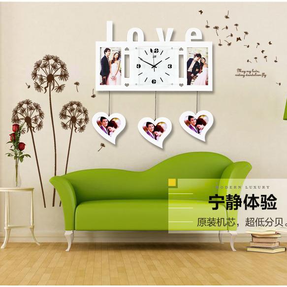 Dekoration Stirbt Dekorative Wanduhr Einfaches Und Stilvolle Massivholzrahmen Uhr Kreative Hngen Grosse Wohnzimmer Tisch W