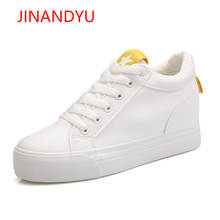 2018 Fashion Casual Women Shoes Height Increasing Ladies Shoes Mesh Breathable Platform Shoes Wedge Female Shoes White Sneakers