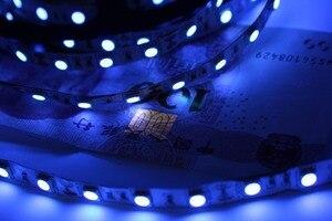 Image 5 - Tira de luces led UV para DJ, tira de luces led UV de 395 405nm ultravioleta 2835/3528 SMD 5050 60led/m, Flexible, tira de cinta, lámpara de 12V para fiesta fluorescente DJ