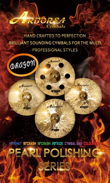 Arborea Dragon series cymbal set.