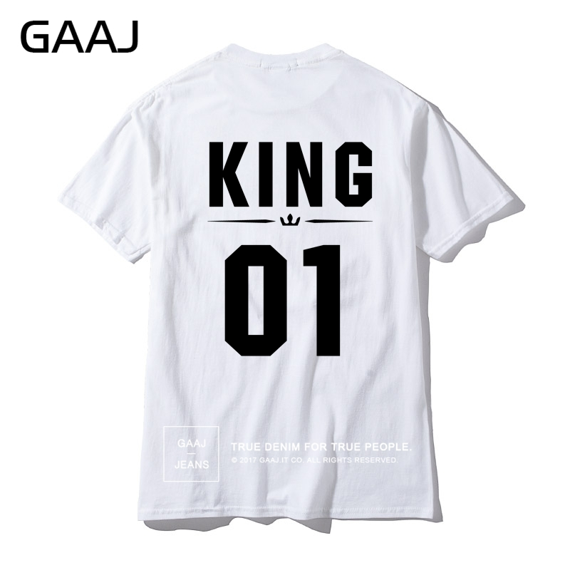 US $8 49 15% OFF|Men T Shirts King 07 01 Print Letter Custom Cotton T  shirts For Man Summer High Quality Male Tshirt Mens Top Lovers Plus Size-in