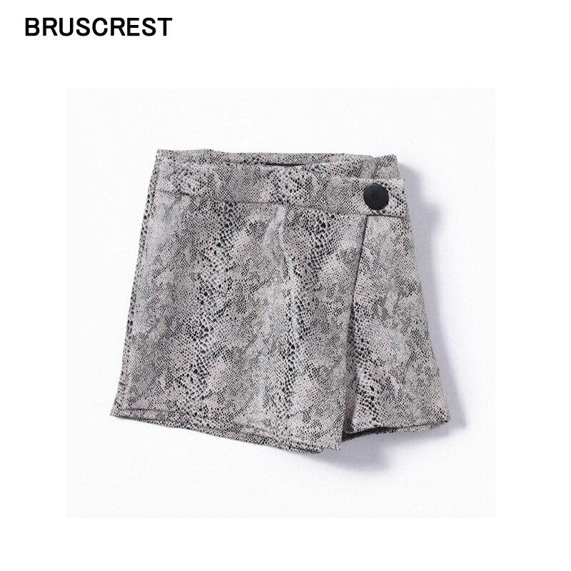 Snake Print Shorts Women Summer Skirt Shorts Feminino Elegant Cute High Waisted Shorts For Women Hot Short Pants Mujer 2019 New