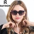 BAVIRON Pérola Escudo Grande Quadro Óculos de Sol Das Mulheres Óculos de Sol HD Polarized Óculos Menina Óculos De Sol Compras Precisa Caixa Livre 8529