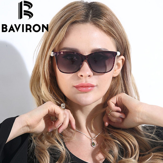 1ab2e0d474 BAVIRON Pearl Women Sunglasses Shield Big Frame Sun Glasses HD Polarized  Glasses Girl Sunglasses Shopping Need