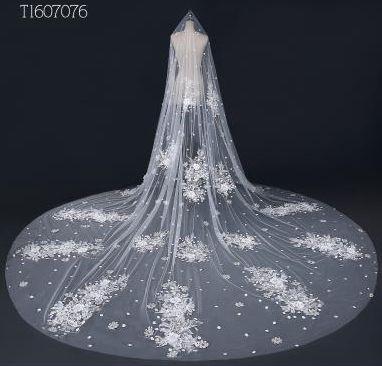 Free Shipping Real Photos 3M White Ivory Wedding Veil Long Bridal Veil Head Veil Wedding Accessories