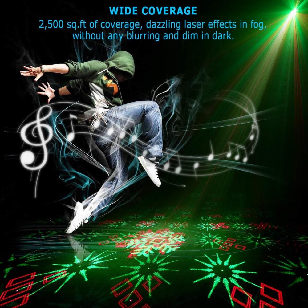 128 Patterns Projecteur DJ Laser Stage Light RG rouge vert Bleu LED - Éclairage commercial - Photo 2