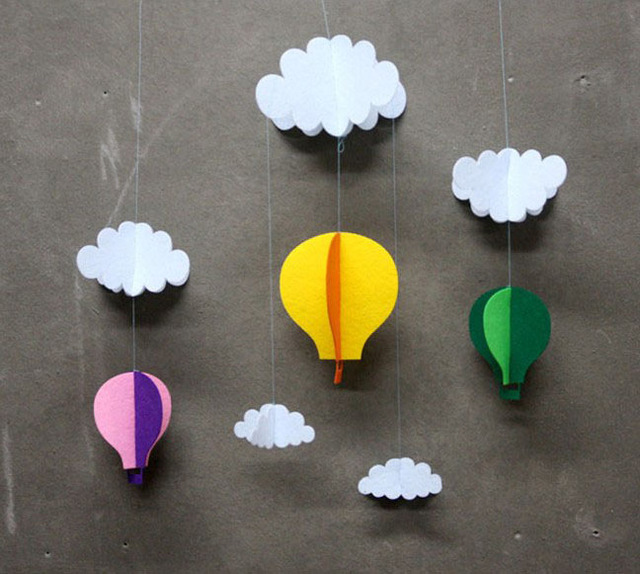 The Clouds&Balloons Paper Crafts Children's Day Supplies