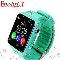 EnohpLX חדש V7K Bluetooth חכם שעון GPS Tracker Smartwatch אנטי איבד שינה צג מד צעדים עבור אנדרואיד IOS טלפון תינוק מתנות