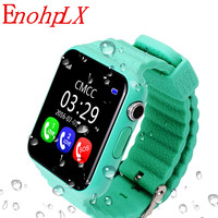 EnohpLX New V7K Bluetooth Smart Watch GPS Tracker Smartwatch Anti Lost Sleep Monitor Pedometer for Android IOS Phone Baby Gifts