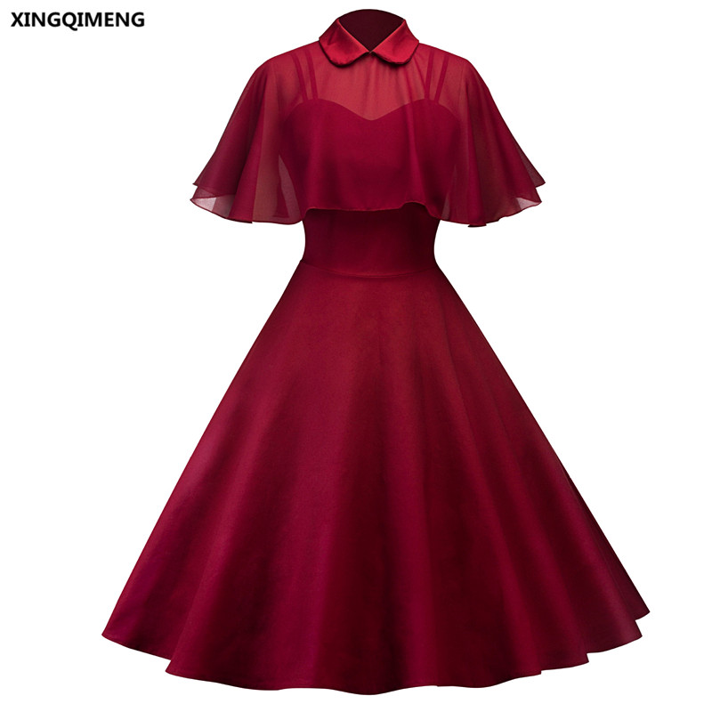 In Stock Wine Red Cocktail Dresses With Chiffon Cape Elegant Short