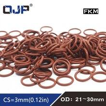 Fluorine Oil-Ring Rubber Fuel-Gaskets FKM 3pcs/Lot Brown 23/24/25-/..