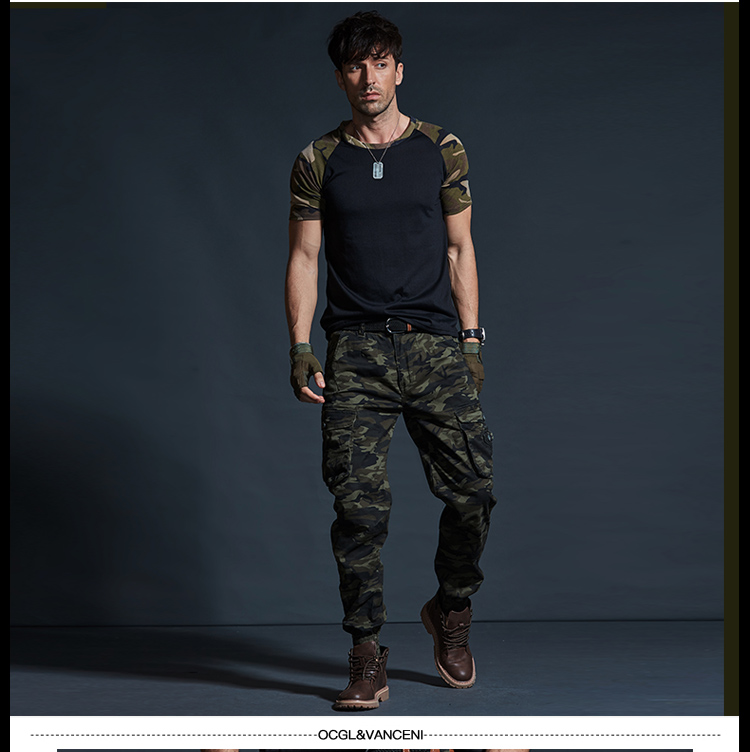 High Quality Khaki Casual Pants Men Military Tactical Joggers Camouflage Cargo Pants Multi-Pocket Fashions Black Army Trousers 60