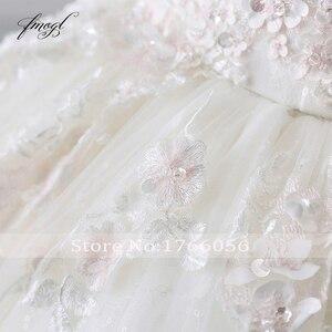 Image 5 - Fmogl Vestido De Noiva Prinses Baljurk Trouwjurken 2019 Applicaties Kralen Bloemen Kapel Train Lace Bridal Jurk