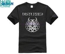 Disturbed Men Black T-Shirt Heavy Metal Band Fan Tee Shirt S-3XL Sleeve Homme T Kawaii Anime Top Plus Size