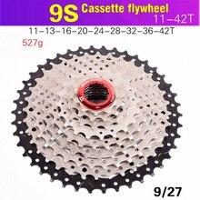 BOLANYจักรยานFlywheel 9S 11 36 11 40 11 42 Mountain Bike Flywheel 9S 27speed Cassette Sprocketสำหรับอัตราส่วน