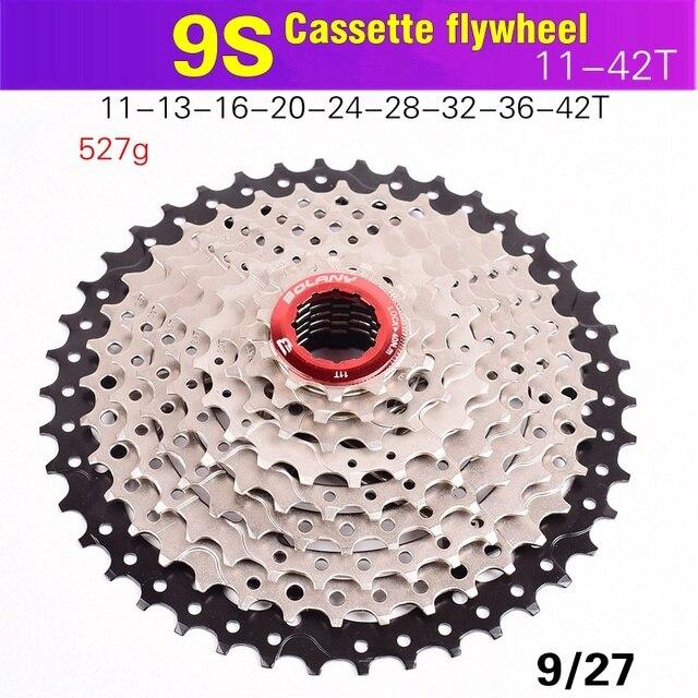 BOLANY MTB Bike bicycle Freewheel 9S 11-36 40 42 Mountain Bike Flywheel 8 9 Speed Cassette Sprocket For SHIMANO Wide Ratio