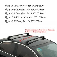 Car Roof Rack Cross Bar Anti Thief for Honda for KIA for Nissan for VW /Buick/Toyota /Audi /BMW /Ford Black