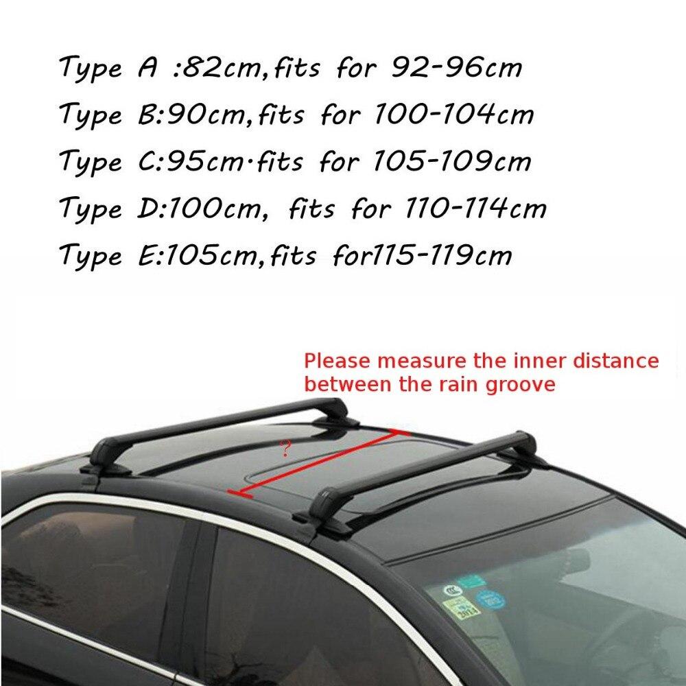 Barre transversale de galerie de toit de voiture Anti-voleur pour Honda pour KIA pour Nissan pour VW/Buick/Toyota/Audi/BMW/Ford noir