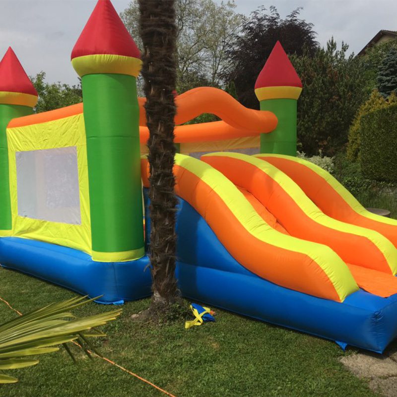 Trampoline For Kids Jumpling Castle Double Side Giant Inflatable Game Inflatable Bouncer Bounce House Jumper for Sale double slide popular inflatable bouncer jumper castle bounce house for sale
