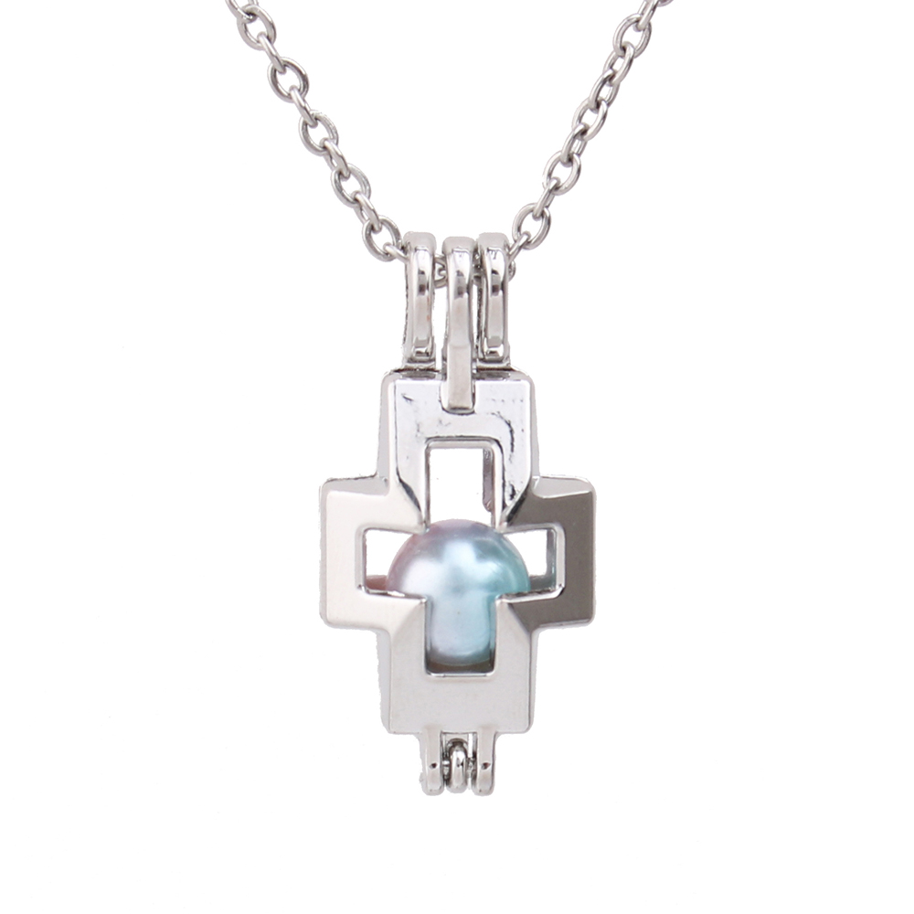 Top 10PCS NEW Jewelry Cross Pearl 925 Silver Plated Necklace Chains For Pendant