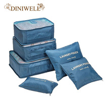 DINIWELL New 6PCS/Set High Quality Oxford Cloth Travel Mesh Bag In