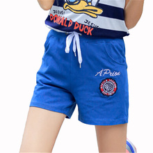 Outdoor Hot Summer Surfing Beach Shorts Cotton Pants Female Letter Loose Women Printed Elastic Waist Water Sports Trousers D028