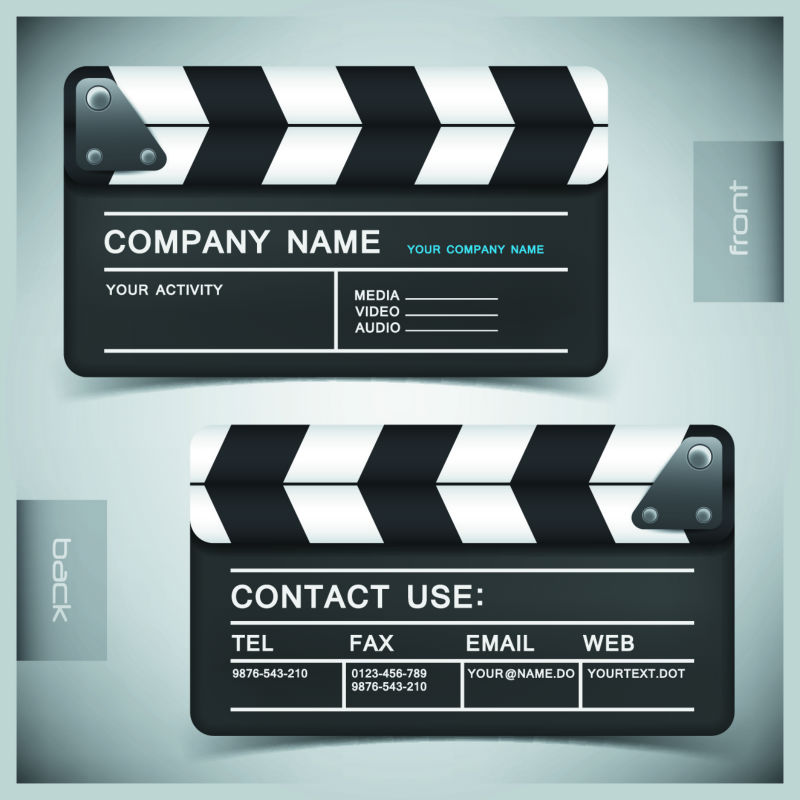 creative business card template film matte white plastic card Y0012 ...