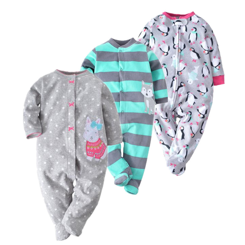 New 2017 spring Newborn Rompers Baby Boys romper warm fleece Baby Jumpsuit 0-12M cheap infant clothing from orangemom orangemom brand summer spring baby romper long sleeves 100