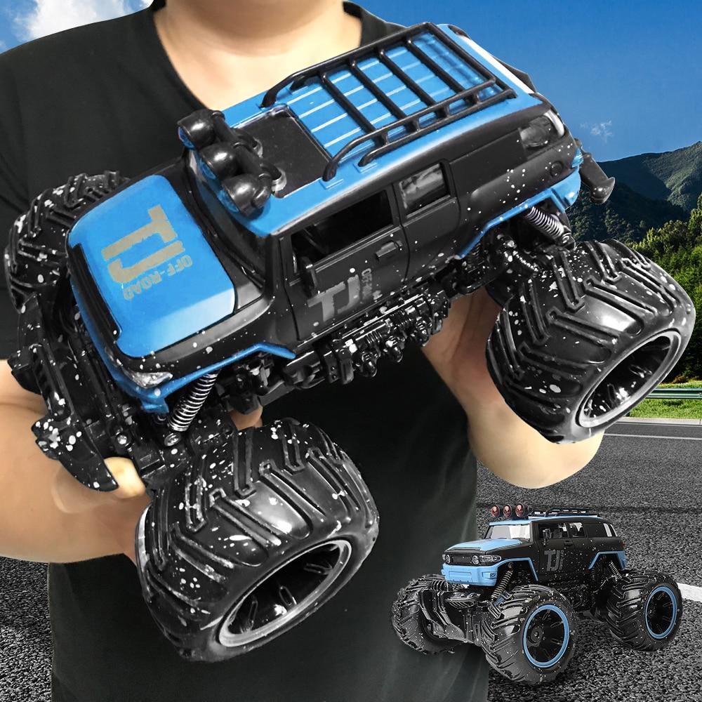 GizmoVine RC Voiture 2.4 ghz 1/16 RC Dirt Bike 2 Roues Motrices Rock Crawler Voiture De Rallye Bigfoot voiture Off- route Véhicule télécommande de voiture