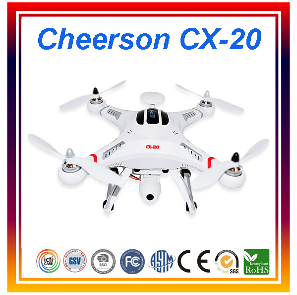 Original Cheerson CX-20 Professional Drones RC Quadcopter GPS Remote Control Helicopter RC Drone With Camera HD mini rc helicopter cheerson cx 10w upslon cheerson cx 10wd rc quadrocopter with camera mini drones remote control fpv wifi drone