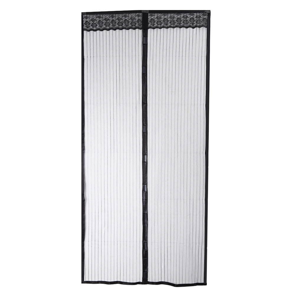Open black curtain - 100 X 220cm Curtain Anti Mosquito Magnetic Tulle Shower Curtain Left And Right Biparti Open Door
