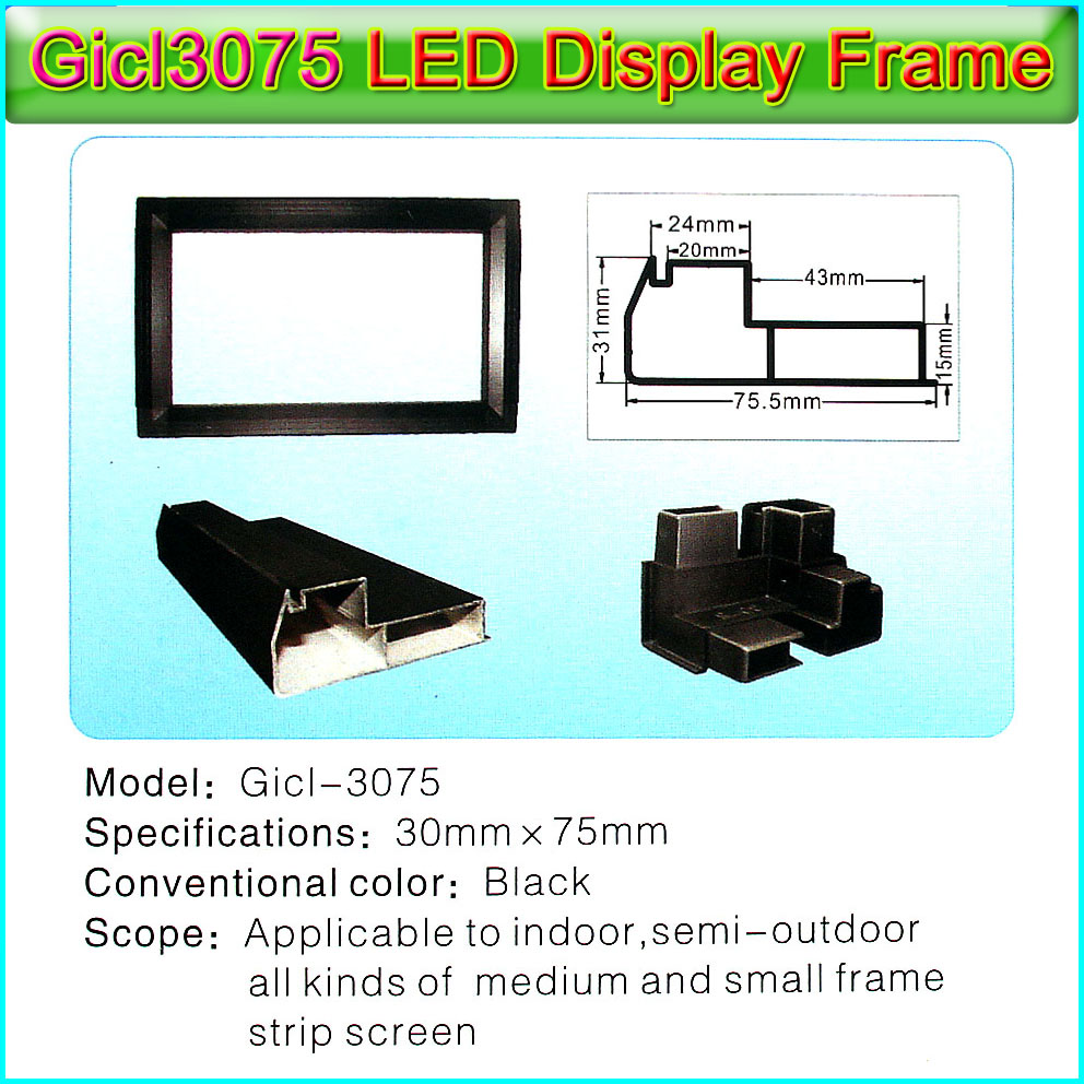P10 Indoor And Outdoor Dual Color Module LED Display Module Frame Gicl-3075A Price