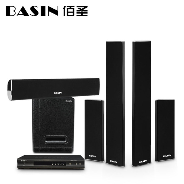 08 Thin Wall 5 1 Home Theater Audio Suite Living Room Tv Cabinet Column