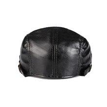 LUCKYLIANJI Women Men Fashion Solid Genuine Leather Casquette Artist Painter Gangster Beret Cap Newsboy Travel Cabbie Gatsby Hat