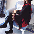 Fashion Women Cashmere Scarf Patchwork Poncho Cape Poncho Wrap Shawl Cloak Warm Scarves Wraps