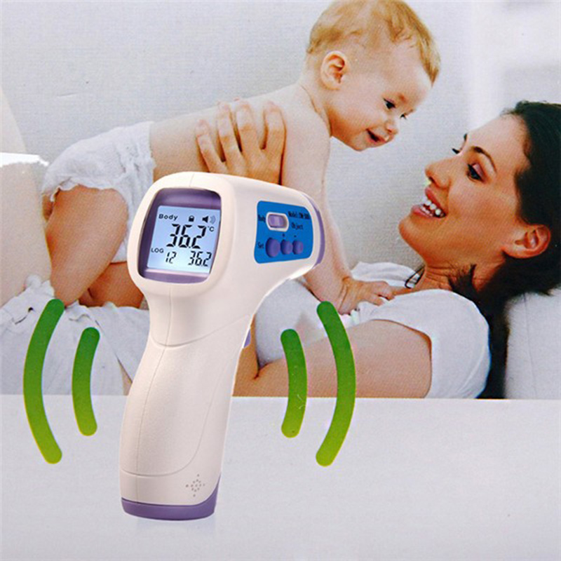 Infrared Thermometer Gun Non-contact Infrared LCD Monitor Measurement Device Digital Infrared IR thermometer DM300 For Baby Kids image